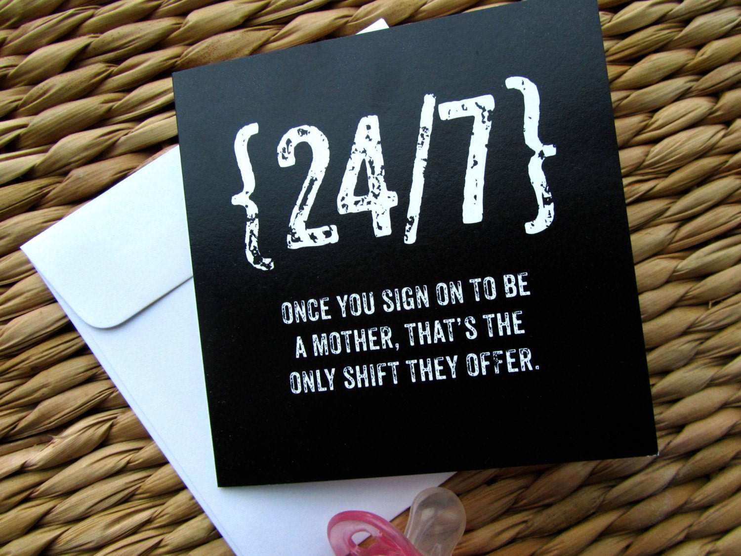 New mom card funny mothers day card baby shower card 247 zoom kristyandbryce Images