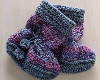 Crochet Slippers, Crochet women's slippers, Slippers, Crochet Slipper Boots