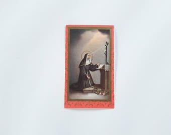Saint Rita of Cascia Holy Card Prayer Card Missal Bookmark