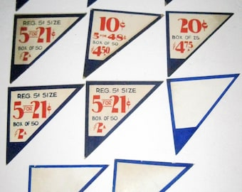 11 Cardboard Price Tags for Altered Art, Collage, etc.