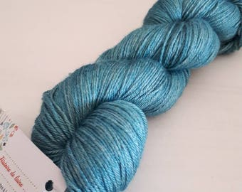 55% BFL 45 silk fingering hand dyed wool