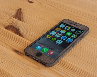 Wenge iPhone 8 Case / Real Wood iPhone Wrap - Classic Style - Laser-Cut to Fit iPhone 8, iPhone 7, iPhone 6S / 6 and more - Customizable!