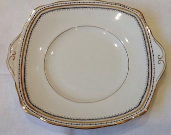 Vintage Sandwich Plate, Royal Albert Crown China Serving Plate