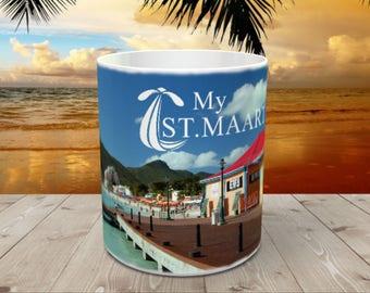St. Maarten Caribbean Beach Coffee Mug