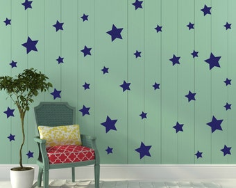 FREE SHIPPING Wall Decal Stars Color  Blue, Each Kit 150 Stars. Wall Sticker. Homedecor.Nursery Wall Art.Housewares