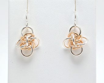 Persephone Earrings in Sterling Silver and Gold Fill
