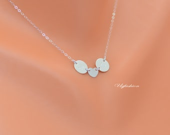 couple neckalce, heart charm necklace, personalized necklace, his and her necklace, initial disc, mothers necklace, mother jewelry, mom
