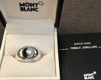 Mont Blanc Streling Silver Ring Size 6 1/2