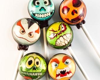 6 Creepy Emoji Hard Candy Lollipops