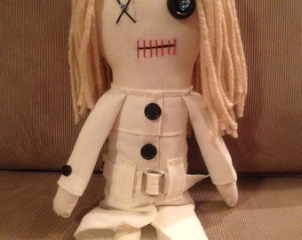 "Barbra -  Inspired by George A Romero's ""Night of the Living Dead"" - Creepy n Cute Zombie Doll (D)"