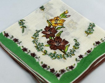 Vintage Hankie  Frame Sew Quilt Gift  B-61