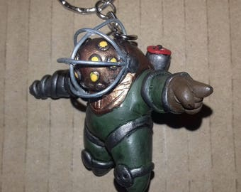 Bioshock big daddy keychain