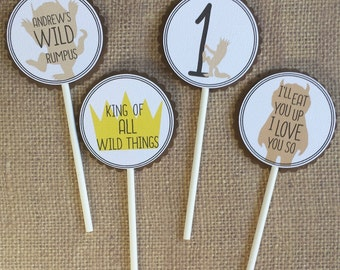 Where the Wild Things Are Cupcake Toppers