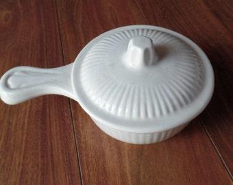 Soup Tureen Set Bowl Ladle Lid Vintage Porcelain Ceramic