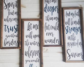 Spirit Lead Me Where My Trust is Without Borders, Spirit Lead Me Sign, Hillsong United, Oceans Lyrics