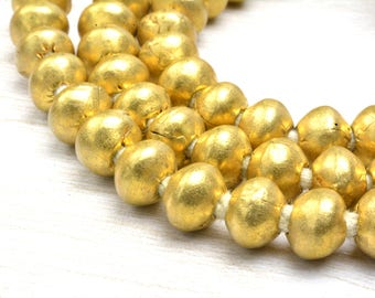 "100 Round Brass Beads , 60cm / 24"" inch long, 4mmx4mm , hole 1.5mm ,Jewelry Supplies Beads"