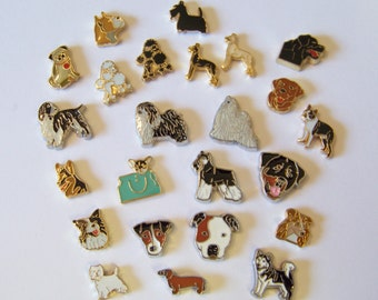 NEW Floating Dog Breed Charms, choose 1...see availibility in description below