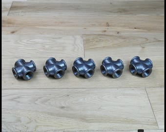 Set of 5 cross - 15/21 mm in black cast iron