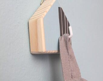 Light blue hook, Bag holders, Kids room hook, Cottage hook, Backpack hook, Nordic design hook, Gift for kids, Keys holder, Wooden hook