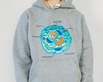 Eukaryotic cell - embroidered hoodie / sweatshirt