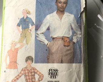Simplicity Pattern 8715, Size 16 Miss, Vintage Blouse Pattern, Vintage Simplicity Pattern,