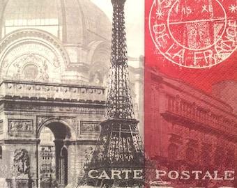 Paris - postcard paper towel