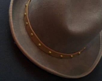 Brown Leather Hatband