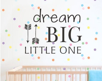 Nursery Decor Todler Decal Newborn Dream Baby Shower Big Gift Idea Room Decor