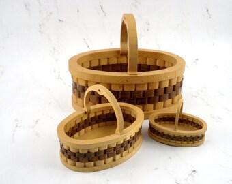 Oval display baskets with handles gift baskets flower basket decorative home decor farmhouse basket