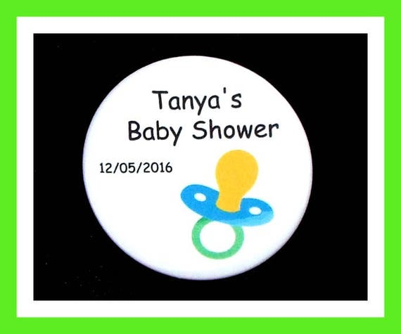 Baby Shower Pacifier Favors,Personalized Buttons Pins,Favor Tags,Its a Boy,Party Favors,Birthday Party Favors,Personalized Favors,Set of 10