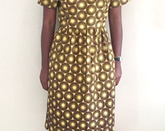 African fashion clothing ankara dress African print dress african wax dress dutch wax dress