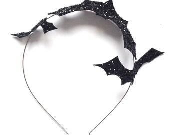 Glitter Bat Headband