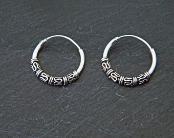 1,5X16 mm Sterling Silver Hoop Earrings - Silver Hoop Earrings - Tiny Hoop Earrings,Hoop Earrings - Small Hoop Earring,Silver Hoop Tiny,029H
