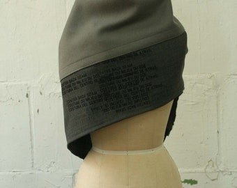 wool Scarf, Gray Shawl, text Edgy Accessories, AW19