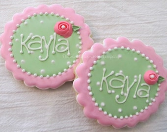 Shabby Chic Floral Cookies 2 dozen