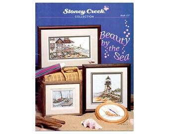 Beauty by the Sea Cross Stitch, Stoney Creek Cross Stitch, Seaside Cross Stitch Leaflet, Lighthouse Cross Stitch, by NewYorkTreasures Etsy