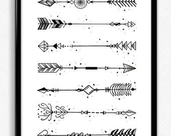 Dot work arrow print