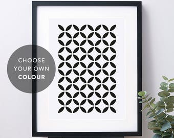 Geometric circle print – Geometric prints – Scandinavian print – Scandinavian art – Mid Century art – Wall art – Home decor – GEO009