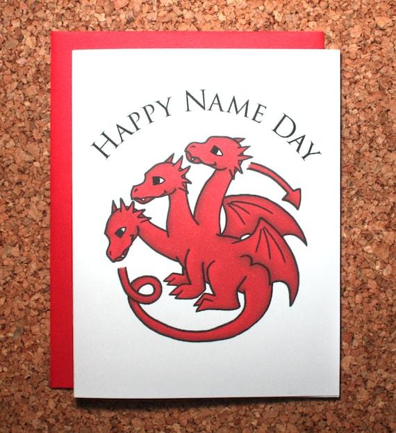 Game Of Thrones Birthday Card Name Day Card Targaryen