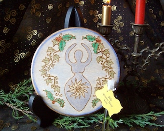 Made to Order Yule Altar Tile The Goddess and Sun