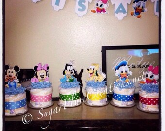 Baby Disney Characters cutouts/diecuts/ baby disney baby shower decorations/ DIY decorations/centerpieces/mickey, minnie, goofy, donald, dai