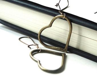 Valentine's Day Earrings, Handmade Jewelry, Women's Earrings, Gift for Her, Heart Earrings, Dangle Earrings