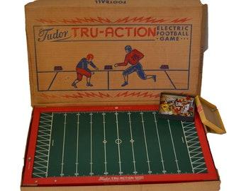 Vintage Tudor Football Game Electric Tru Action Football Game