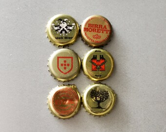 Golden Caps Magnets