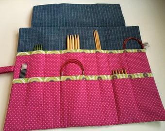 ChestnutFibres DPN/Circular Knitting Needle Holder/Organizer
