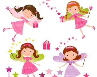 ON SALE girl clip art - girl clipart , cute fairy clip art , Digital clip art , fairy girls ,instant download clip art