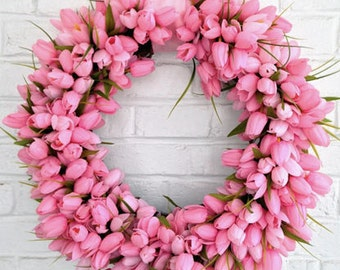 Pretty Pink Tulip Wreath