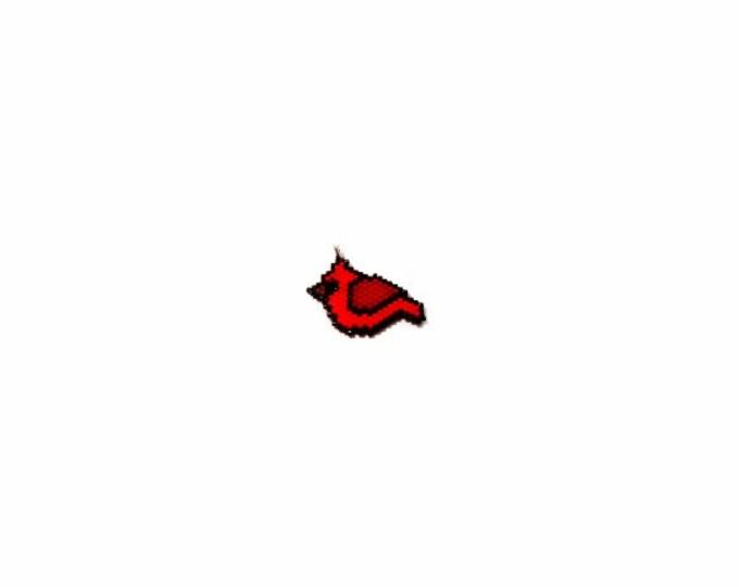 Red Cardinal Brick Stitch Bead Pattern   Printable Digital File
