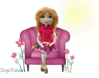 """Crochet pattern """"Needlewoman"""""""