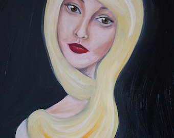 Oil Painting of a Girl